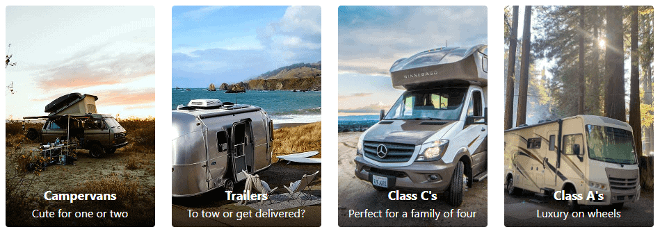 Outdoorsy Available Vehicles